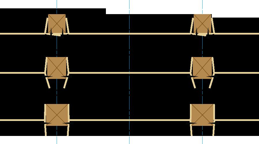 屋根通気ダンボールスペーサー取り付け例