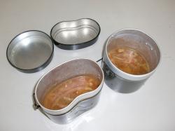 ダンボールソーラークッカーの調理例