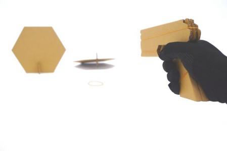 ダンボール,輪ゴム鉄砲